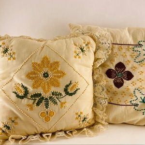 Vintage Handmade Beaded Pillow